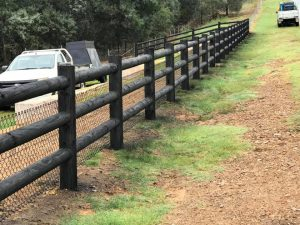 Painted Round Rail Fence